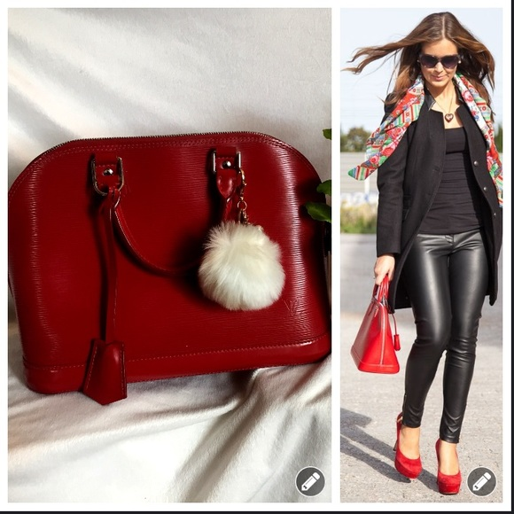 87472ffed76 Authentic Louis Vuitton Epi Leather Alma PM RED